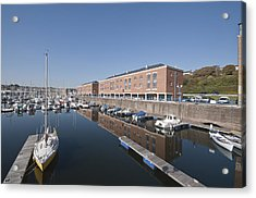 Acrylic Print featuring the photograph Milford Haven Marina 2 by Steve Purnell