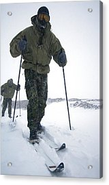 Military Arctic Survival Training Acrylic Print by Louise Murray