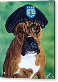 Military Boxer Acrylic Print by Debbie LaFrance