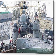 Military Port Acrylic Print by Yury Bashkin
