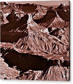 Milk Chocolate Mountains Acrylic Print by Bob and Nadine Johnston