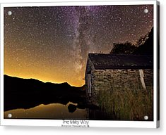 Acrylic Print featuring the photograph Milky Way Above The Old Boathouse by Beverly Cash