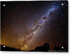 Acrylic Print featuring the photograph Milky Way Down Under by Charles Warren