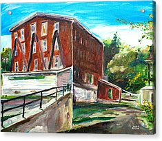 Millbury Mill Acrylic Print by Scott Nelson