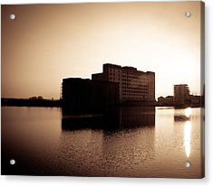Acrylic Print featuring the photograph Millenium Mills Warehouse by Lenny Carter