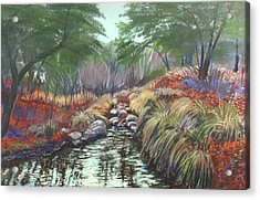 Acrylic Print featuring the painting Miller Canyon Creek by Drusilla Montemayor
