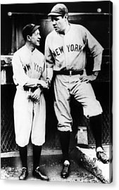 Miller Huggins, And Babe Ruth, Circa Acrylic Print by Everett