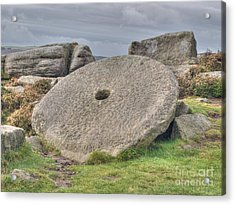 Millstone On Edge Acrylic Print by Steev Stamford