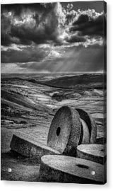 Millstones On The Moor Acrylic Print by Andy Astbury