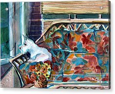 Milly Has A Rainy Day Acrylic Print by Mindy Newman