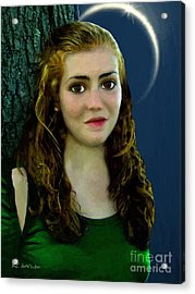 Mina By Moonlight Acrylic Print by RC DeWinter