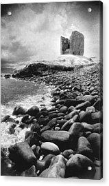 Minard Castle Acrylic Print by Simon Marsden