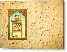 Minaret Through A Window Acrylic Print by Tom Gowanlock