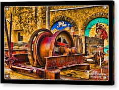 Mine Machinery Acrylic Print by Linda Constant