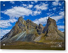 Mineral Slopes Acrylic Print by Rick Bragan