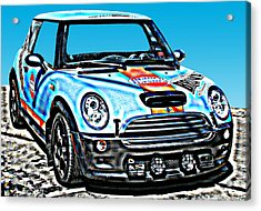 Mini Cooper Competition Acrylic Print by Samuel Sheats