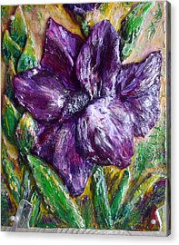 Mini Sculpture - Gladiolus Acrylic Print