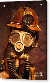 Mining Man Acrylic Print by Randy Harris