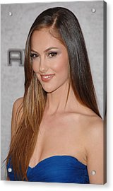 Minka Kelly At Arrivals For Spike Tvs Acrylic Print by Everett