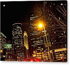 Minneapolis Night Lights Acrylic Print by Susan Stone