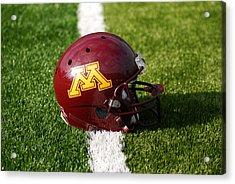 Minnesota Football Helmet Acrylic Print