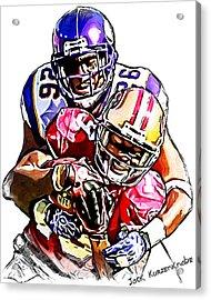 Minnesota Vikings Antoine Winfield - San Francisco 49ers Ted Ginn Jr Acrylic Print by Jack K