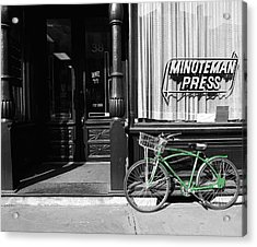 Minuteman Delivery Acrylic Print by Jan W Faul