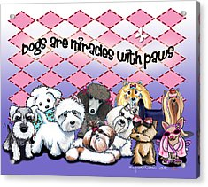 Miracles With Paws Acrylic Print by Catia Cho