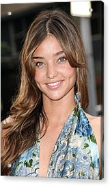 Miranda Kerr At Arrivals For Rescue Acrylic Print by Everett