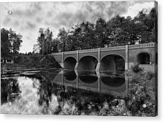 Mirror Bridge Acrylic Print by Peter Chilelli