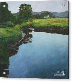 Mirror Creek In Essex Acrylic Print