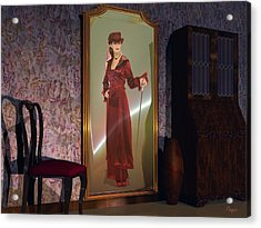 Acrylic Print featuring the digital art Mirror by John Pangia
