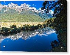 Mirror Lakes Acrylic Print by Graeme Knox