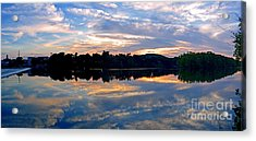 Mirror Mirror On The Water Acrylic Print by Sue Stefanowicz