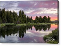 Mirrored Dawn Acrylic Print by Idaho Scenic Images Linda Lantzy
