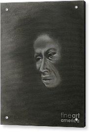 Acrylic Print featuring the painting Misery by Annemeet Hasidi- van der Leij