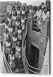 Miss America Contestants, In Two-piece Acrylic Print by Everett