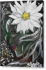 Miss Daisy Acrylic Print by Sladjana Lazarevic