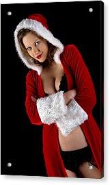 Miss Santa 1 Acrylic Print by Stuart Thomson