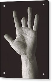 Missing Middle Finger Acrylic Print by Alan Sirulnikoff