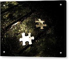 Missing Pieces Acrylic Print by Jessica Brawley