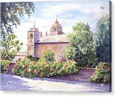 Mission At Carmel Acrylic Print
