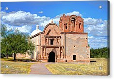 Mission At Tumacacori Acrylic Print by Donna Greene