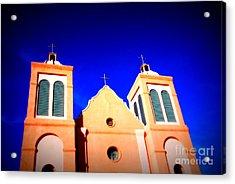 Mission Church Silver City Nm Acrylic Print by Susanne Van Hulst