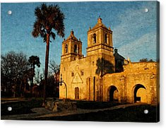 Mission Concepcion In Oil Acrylic Print