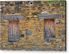 Mission Dwelling Windows Acrylic Print by Peter  McIntosh