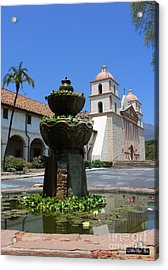 Mission Fountain Acrylic Print by Methune Hively