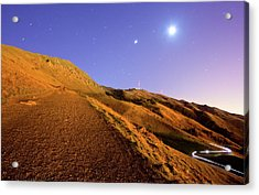 Mission Peak At Dawn Acrylic Print by Sean Duan