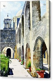 Acrylic Print featuring the painting Mission San Jose by Tom Riggs