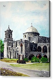 Acrylic Print featuring the painting Mission San Jose Two by Tom Riggs